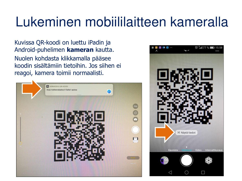 Chrome-selaimesta löytyy QR-koodi avoinna oleva...