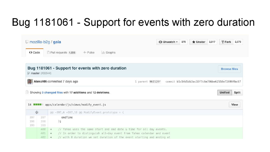 Bug 1181061 - Support for events with zero dura...