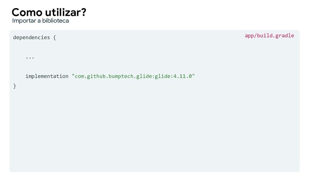 "dependencies { ... implementation ""com.github.b..."