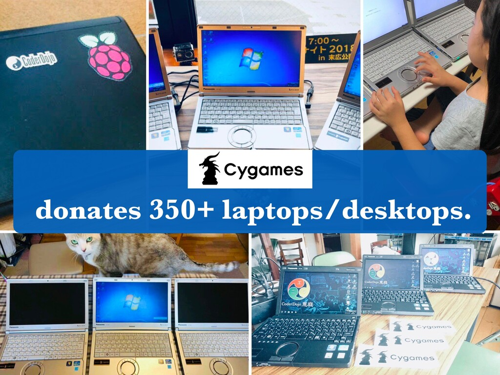 donates 350+ laptops/desktops.