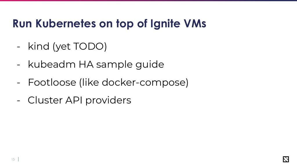 15 Run Kubernetes on top of Ignite VMs - kind (...