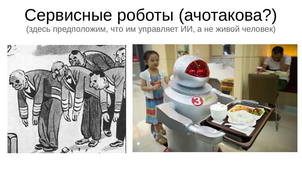 Сервисные роботы (ачотакова?) (здесь предположи...