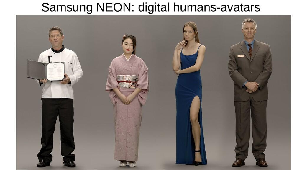 Samsung NEON: digital humans-avatars