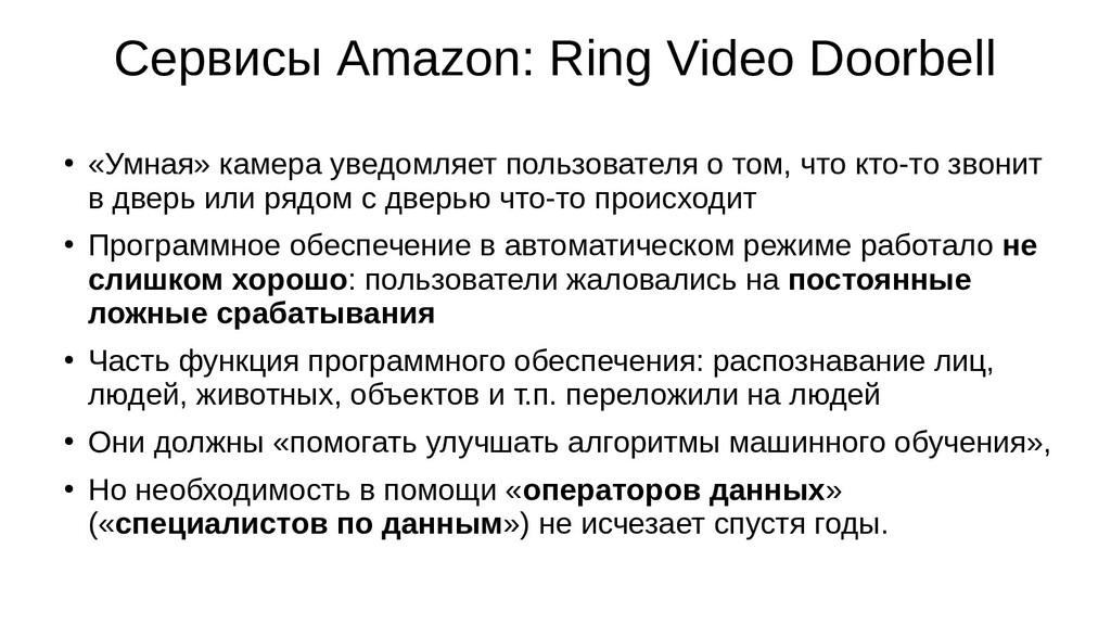 Сервисы Amazon: Ring Video Doorbell ● «Умная» к...