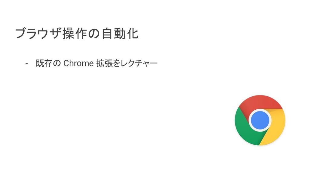 ブラウザ操作の自動化 - 既存の Chrome 拡張をレクチャー