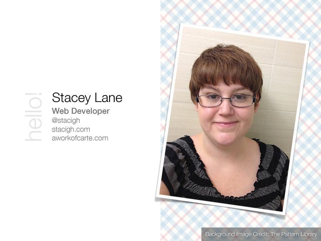 Web Developer @stacigh stacigh.com aworkofcarte...