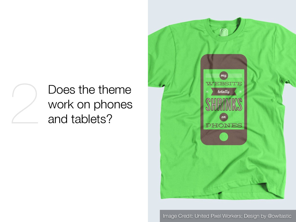 Does the theme work on phones and tablets? 2 Im...
