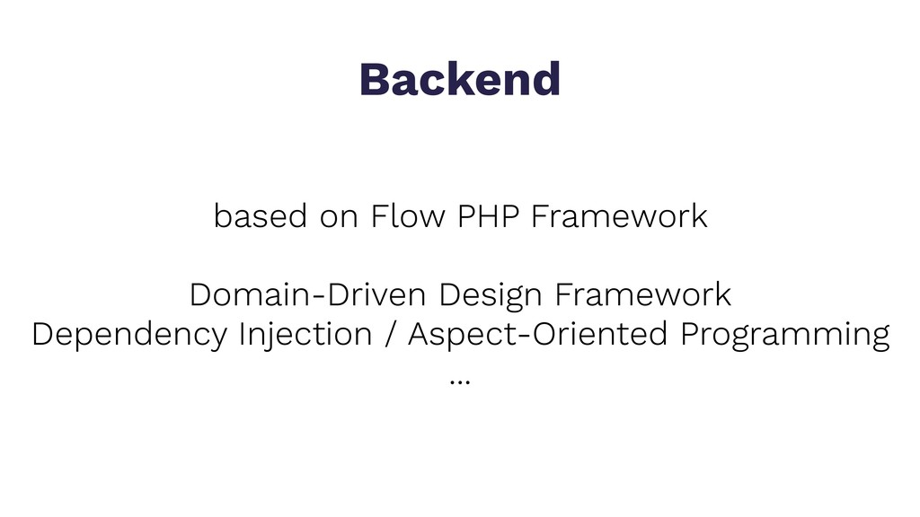 based on Flow PHP Framework Domain-Driven Desig...