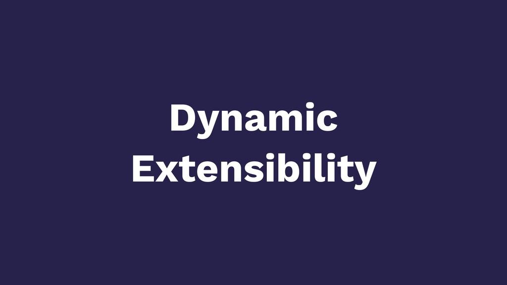 Dynamic Extensibility