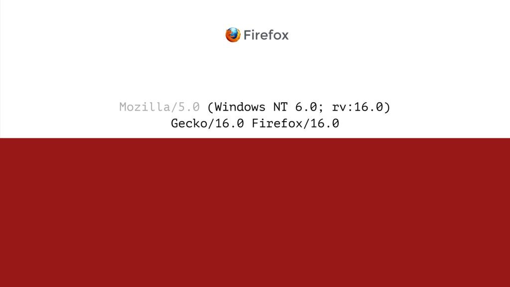 Mozilla/5.0 (Windows NT 6.0; rv:16.0)  Gecko/1...