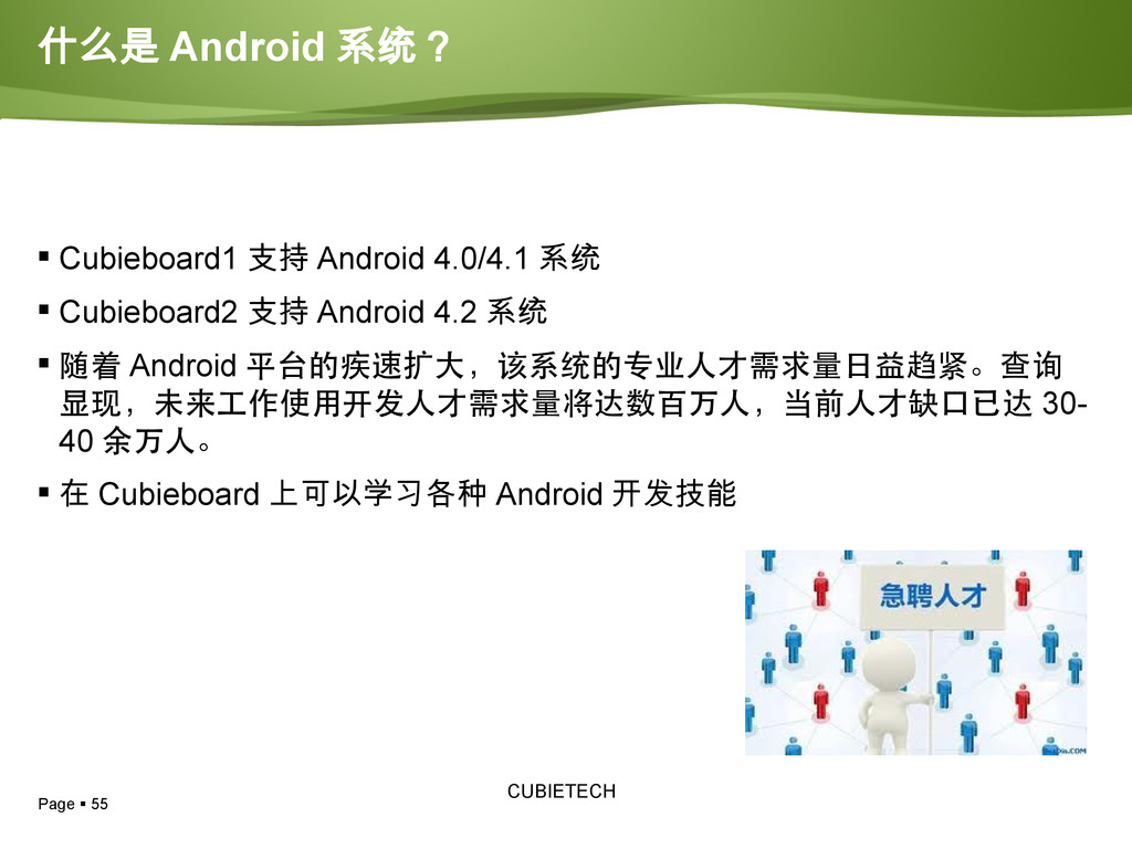 Page  55 CUBIETECH  Cubieboard1 支持 Android 4....
