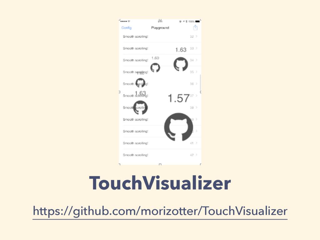 TouchVisualizer https://github.com/morizotter/T...