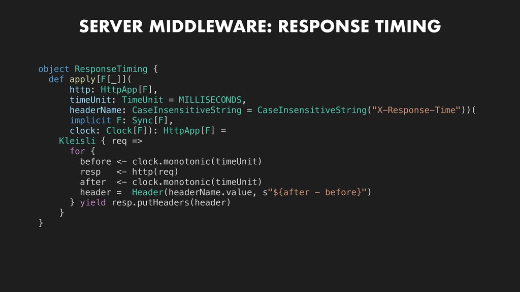 SERVER MIDDLEWARE: RESPONSE TIMING object Respo...