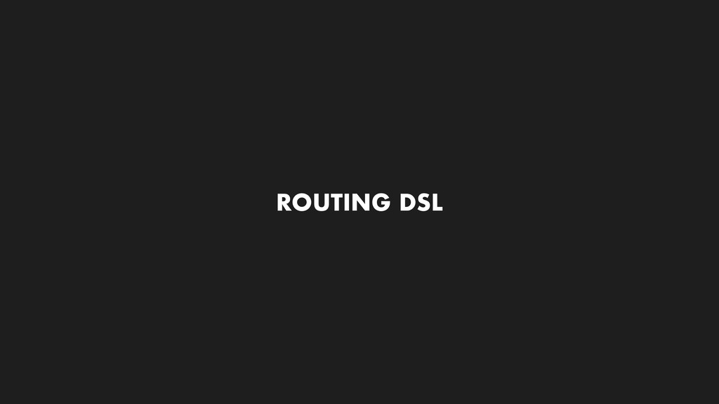 ROUTING DSL