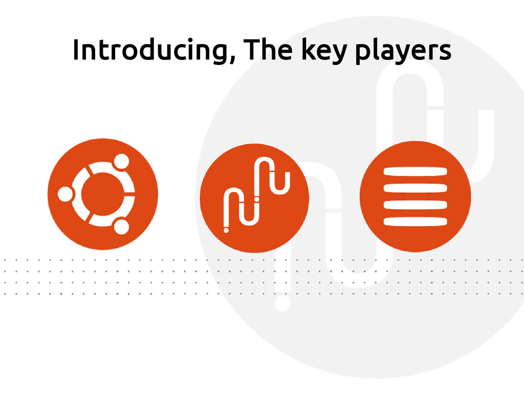 Introducing, The key players