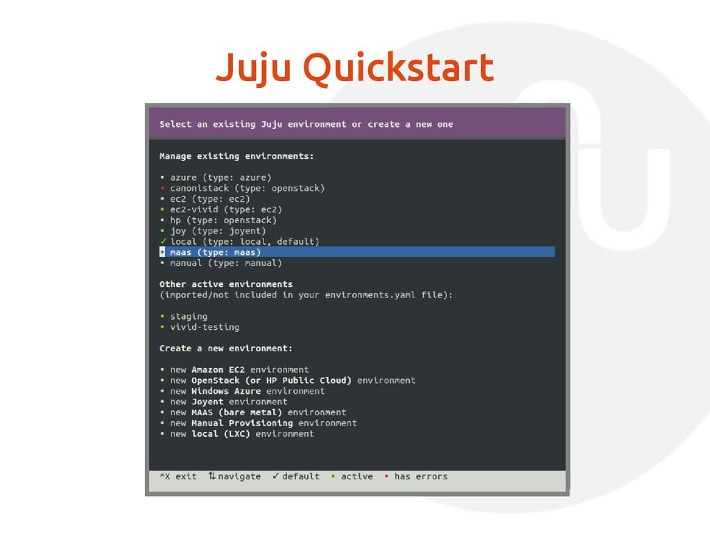 Juju Quickstart