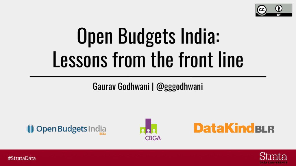 Open Budgets India: Lessons from the front line...