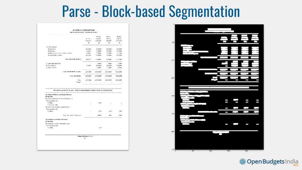 Parse - Block-based Segmentation