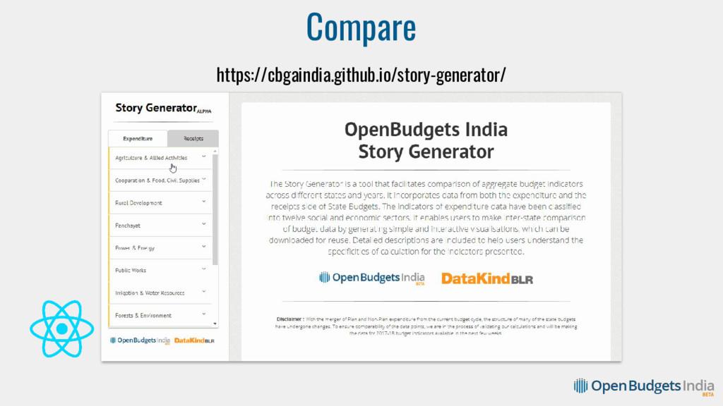 Compare https://cbgaindia.github.io/story-gener...