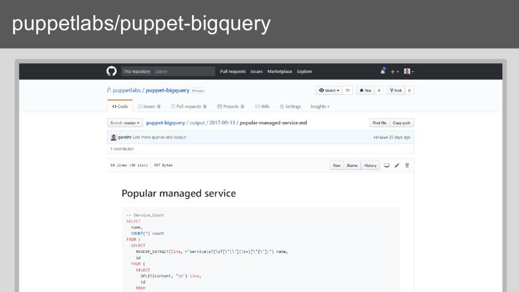 puppetlabs/puppet-bigquery