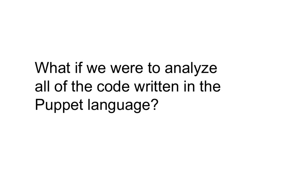 What if we were to analyze all of the code writ...