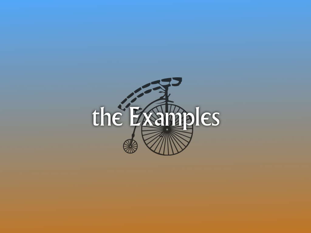 the Examples