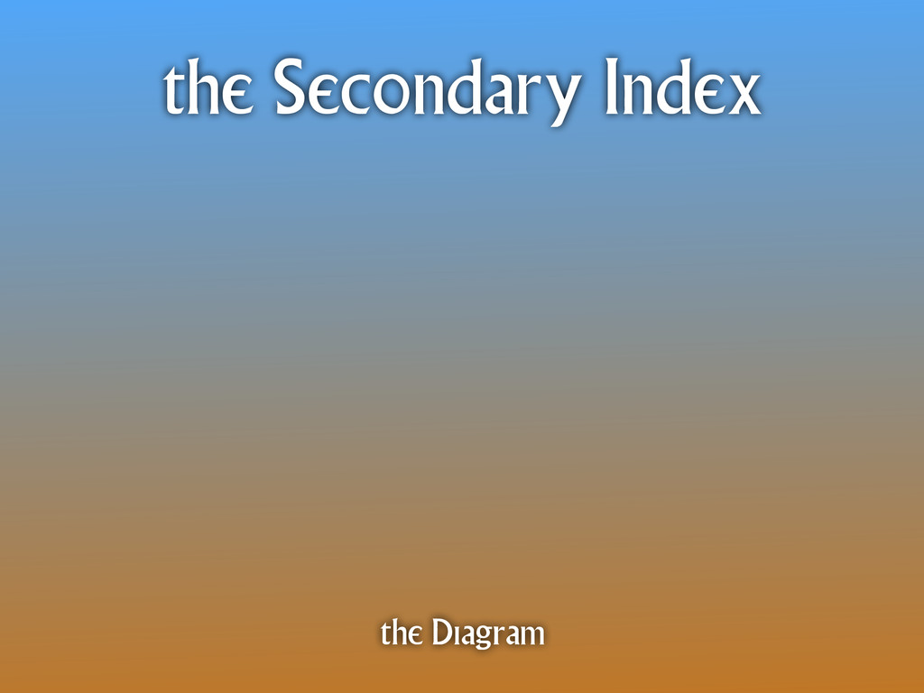 the Secondary Index the Diagram