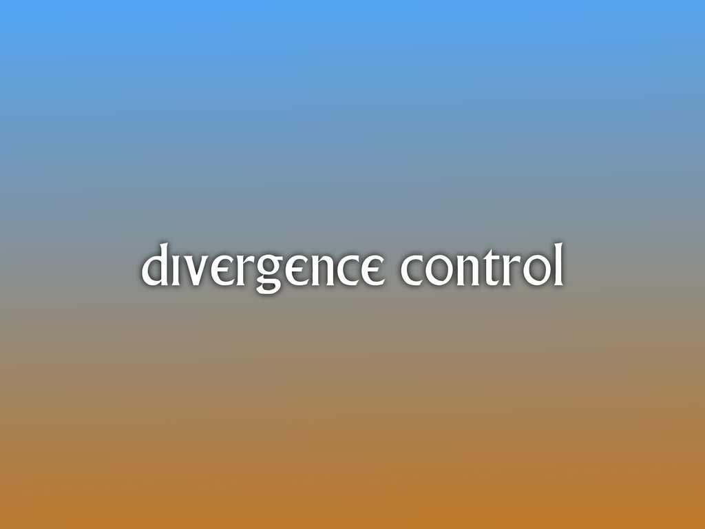 divergence control