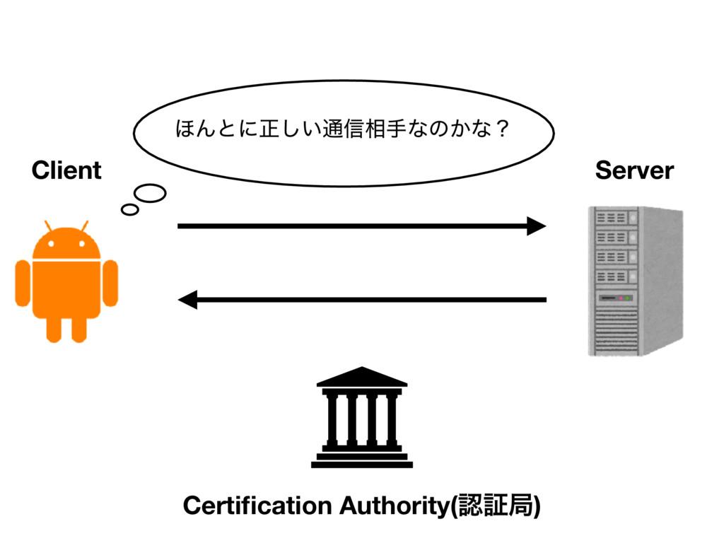 Client Server ΄Μͱʹਖ਼͍͠௨৴૬खͳͷ͔ͳʁ Certification Aut...