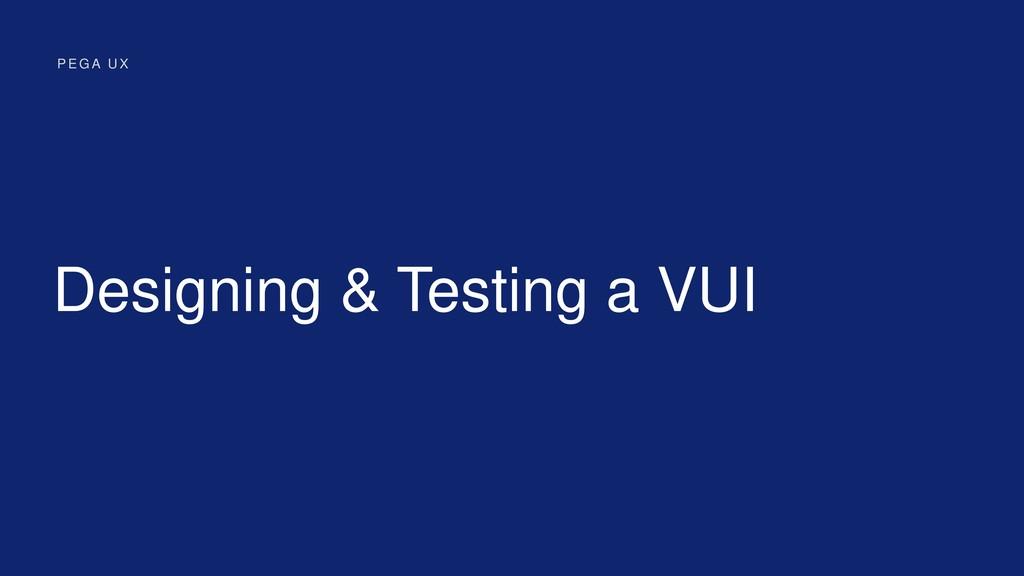 Designing & Testing a VUI P E G A U X