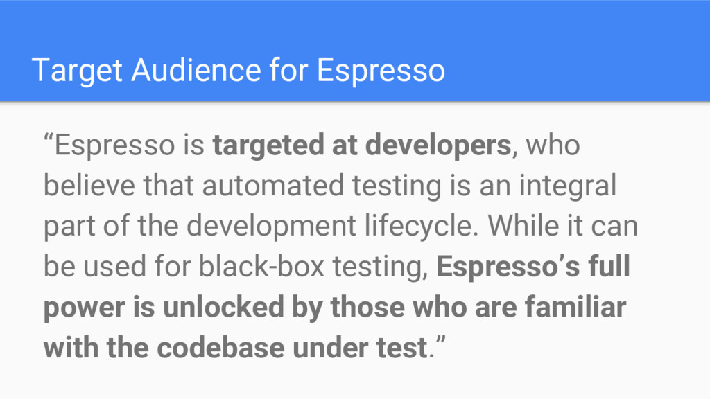 """Target Audience for Espresso """"Espresso is targe..."""
