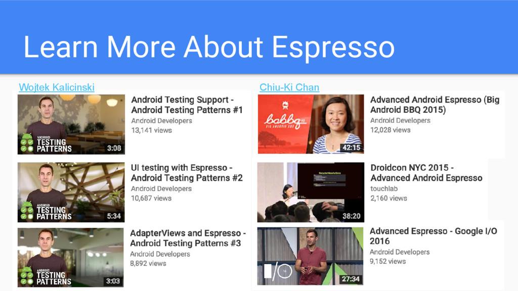 Learn More About Espresso Chiu-Ki Chan Wojtek K...