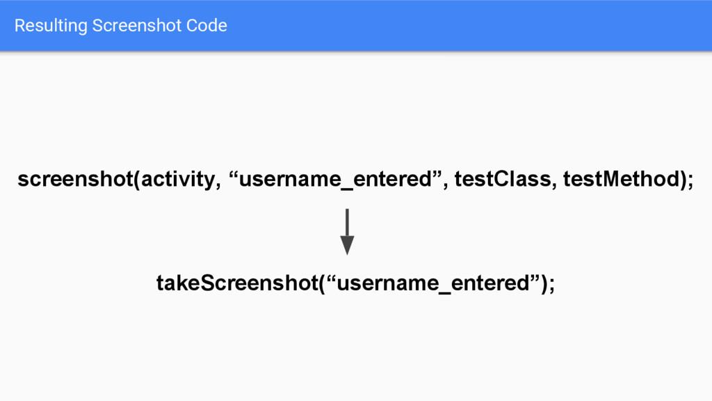 Resulting Screenshot Code screenshot(activity, ...