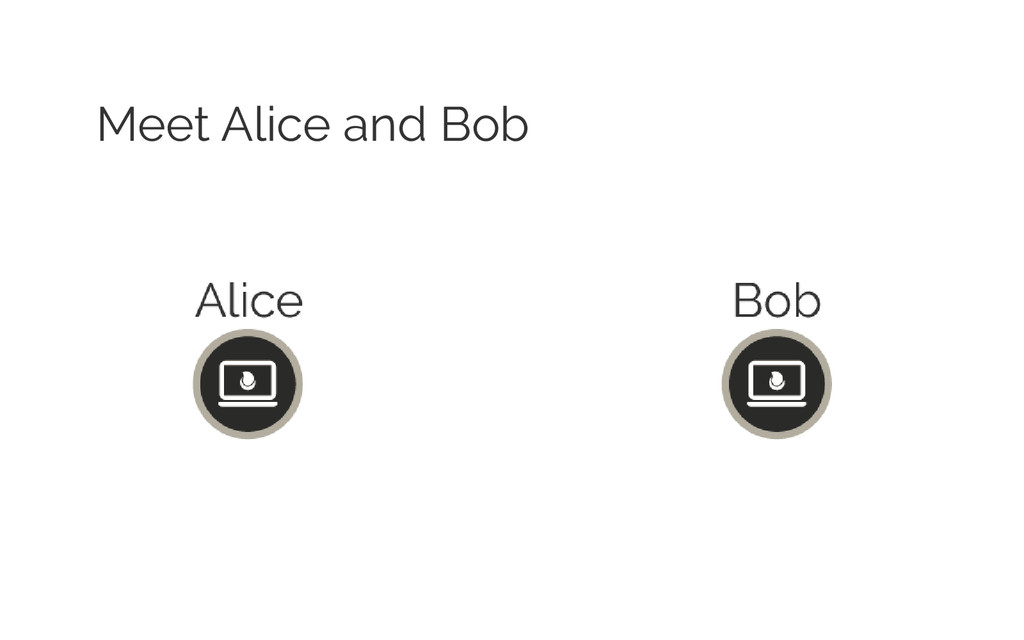 Meet Alice and Bob