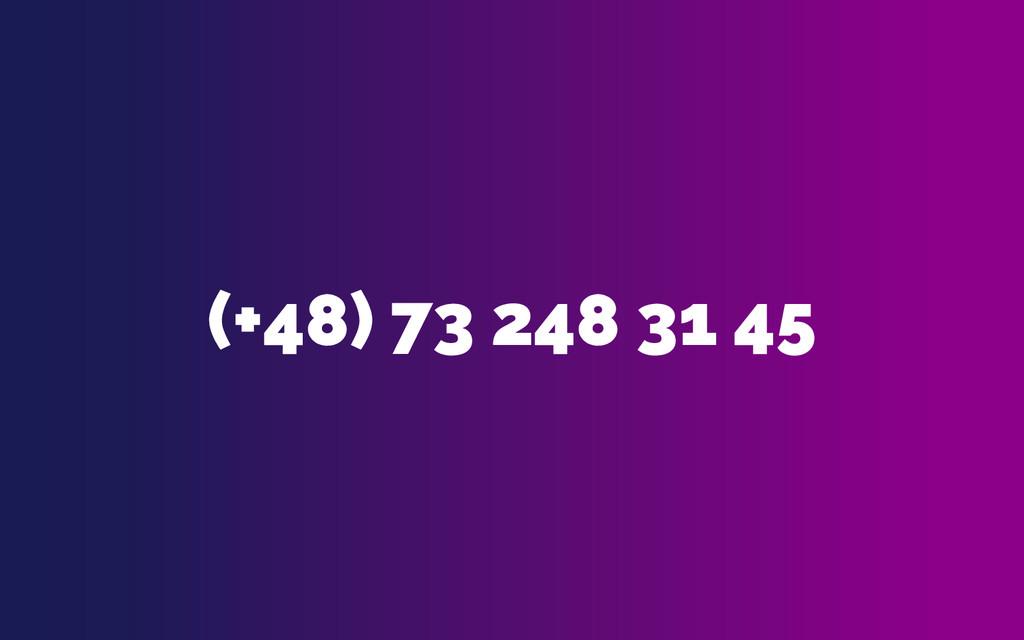 (+48) 73 248 31 45