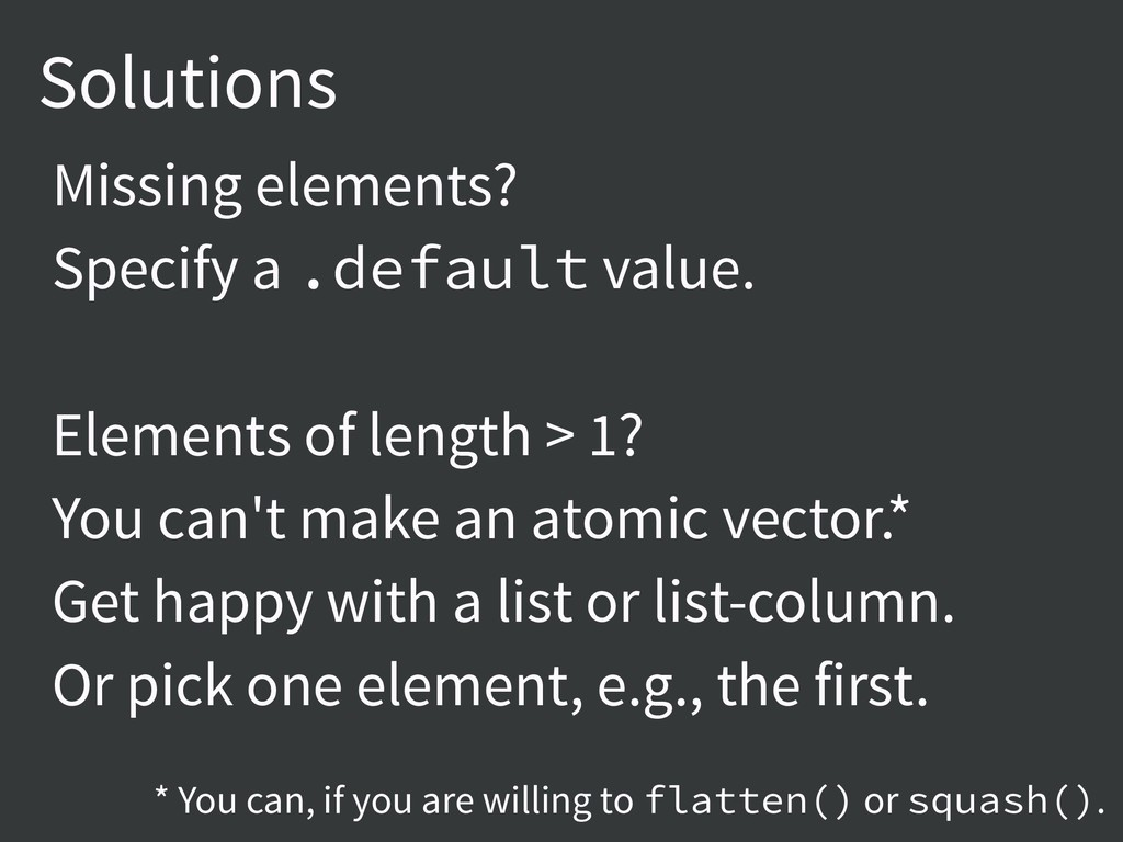 Solutions Missing elements? Specify a .default ...