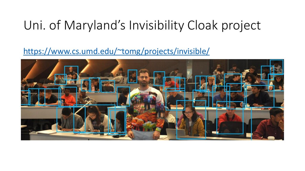 Uni. of Maryland's Invisibility Cloak project h...