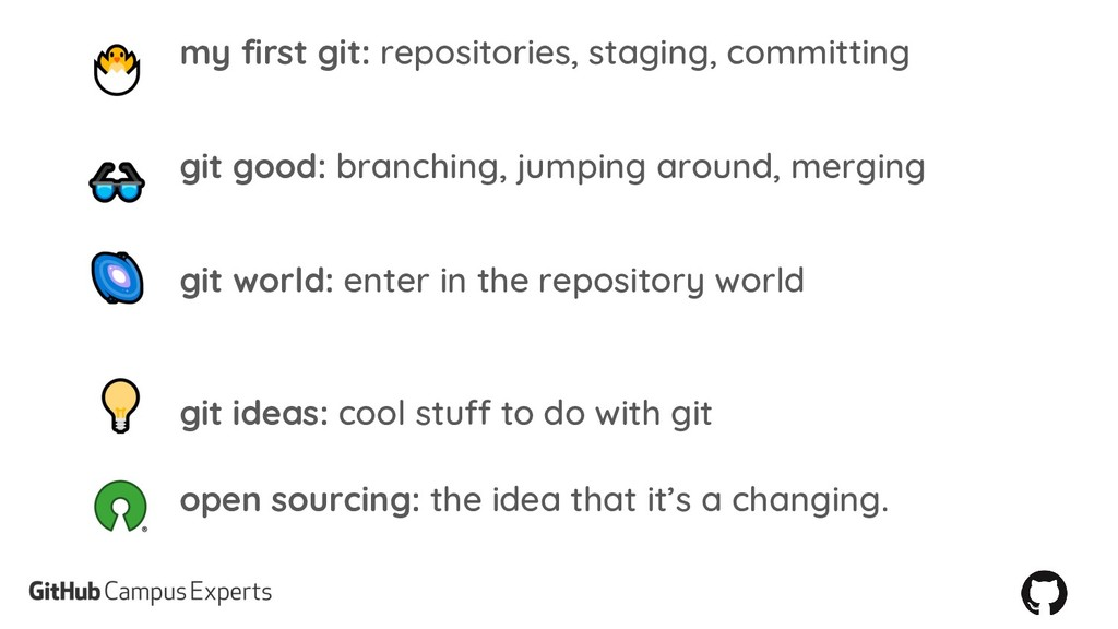 my first git: repositories, staging, committing...