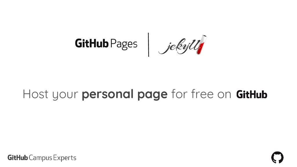Host your personal page for free on
