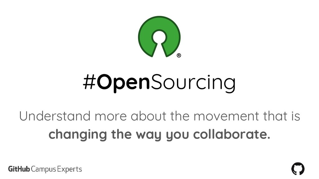 #OpenSourcing Understand more about the movemen...