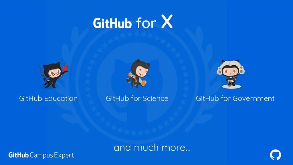 GitHub Education GitHub for Science GitHub for ...