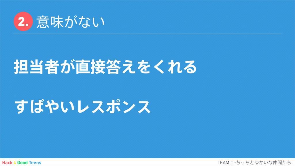 ҙຯ͕ͳ͍ ୲ऀ͕͑Λ͘ΕΔ ͍͢Ϩεϙϯε Hack 4 Good...