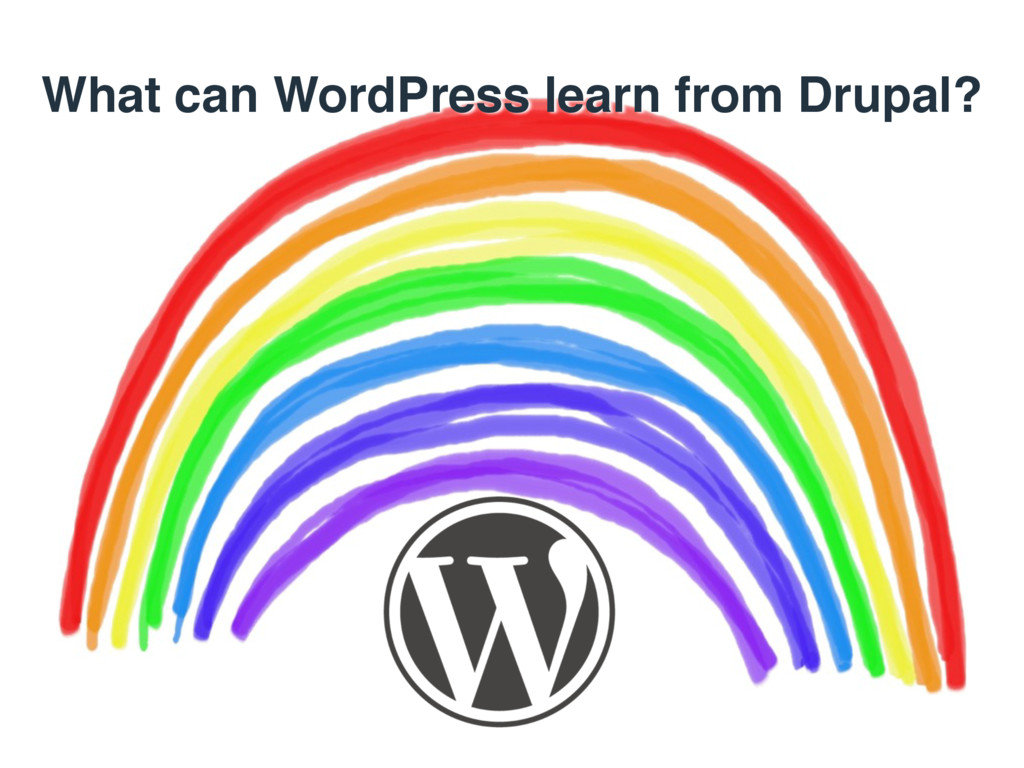 What can WordPress learn from Drupal?