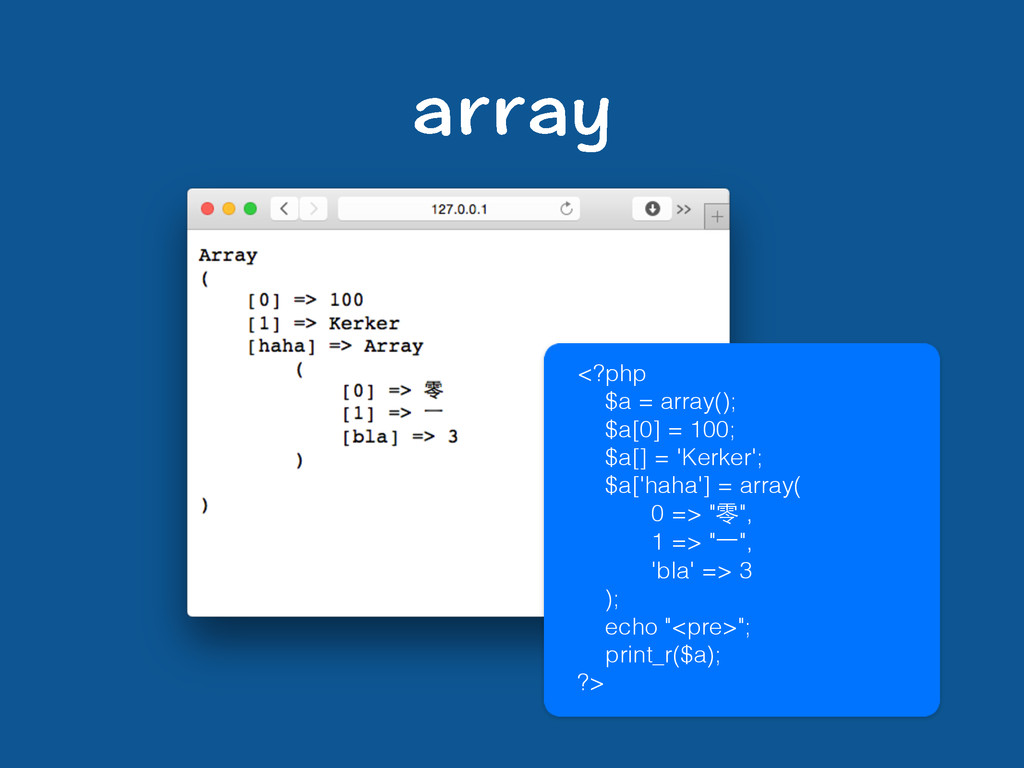 CTTC[ <?php $a = array(); $a[0] = 100; $a[] = '...