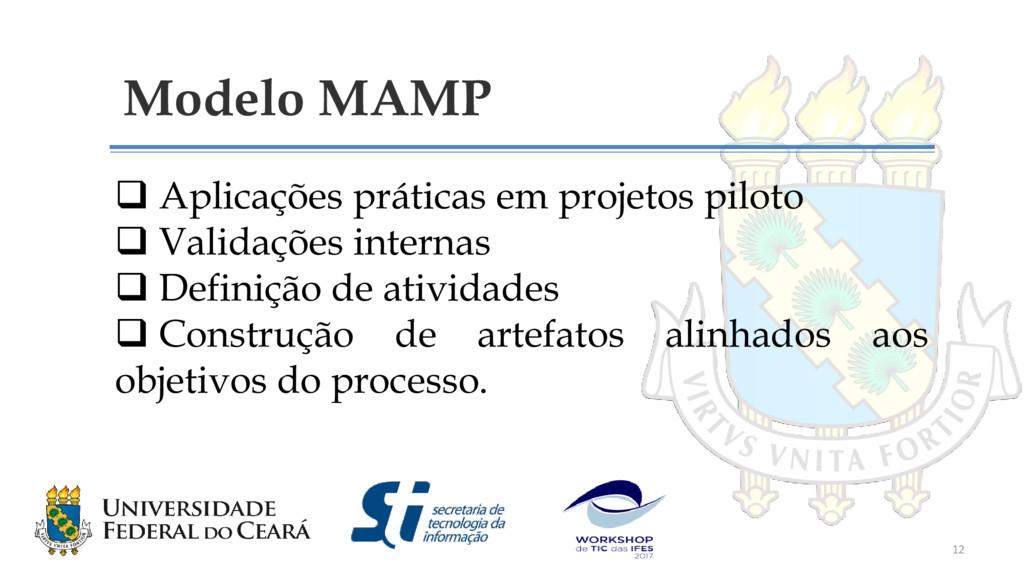 Modelo MAMP  Aplicações práticas em projetos p...