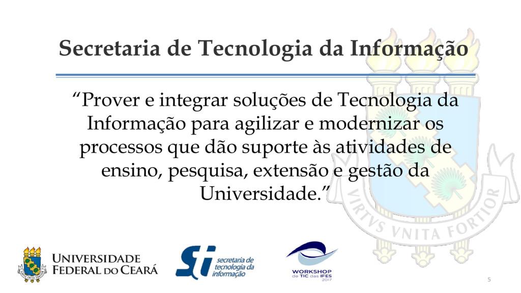 """Secretaria de Tecnologia da Informação """"Prover ..."""