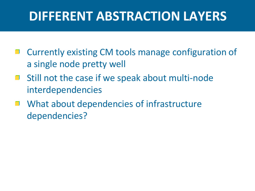 DIFFERENT ABSTRACTION LAYERS Currently existing...