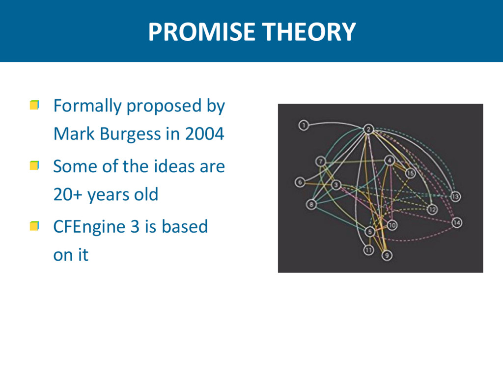 PROMISE THEORY Formally proposed by Mark Burges...