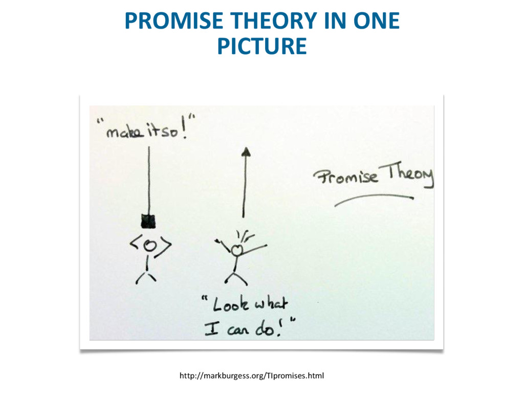 PROMISE THEORY IN ONE PICTURE http://markburges...